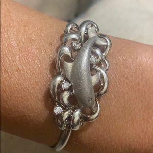 Sterling silver and CZ stone bracelet